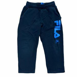Fila black sweatpants w/ pockets elastic waist 5/6